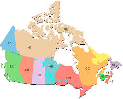map of canadian time zones