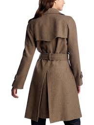 ladies leather trench coat