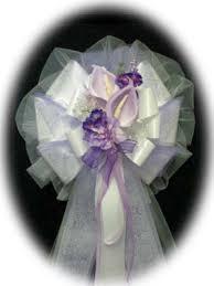 calla lily pew bows