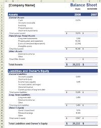 balance sheets template