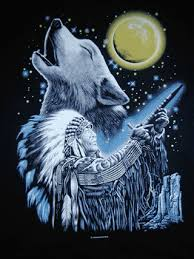 wolf and indian