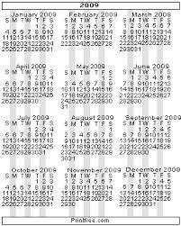 small 2009 calendar