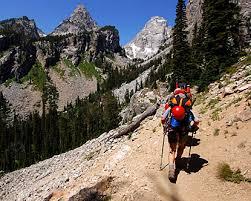 hiking rocky mountains
