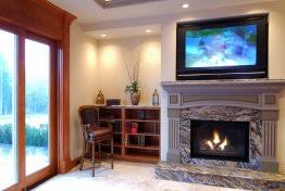 fire place tv