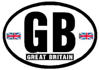 gb car sticker