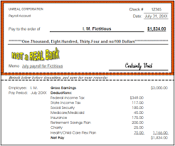 paycheck examples