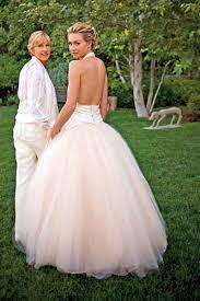 in a dress
