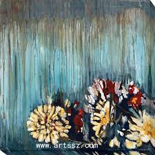 canvas flower paintings