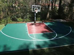 concrete basketball courts