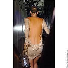 kate moss backless dress