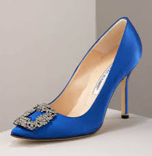 blue party shoes