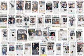 historic newspaper front pages