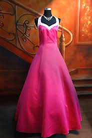 neon pink prom dresses