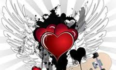 hearts with wings pics