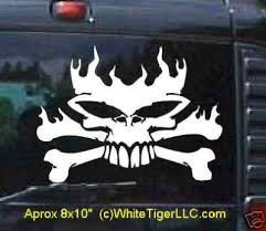 flaming skull decals