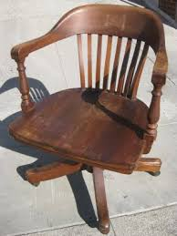 antique banker chair