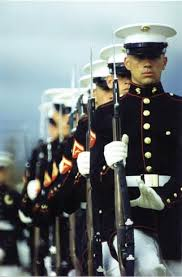 marine corps silent drill team