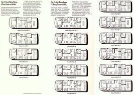 motorhome floor plans