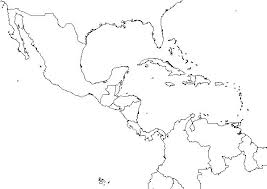 caribbean outline map