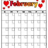 blank calendar feb