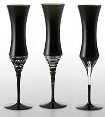 black champagne glass