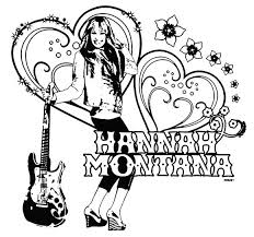 hannah montana free coloring pages