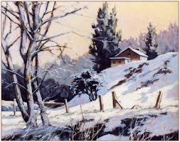 paintings of snow scenes