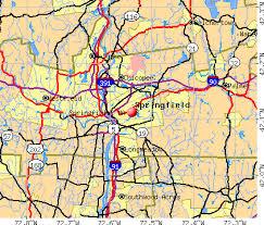 Springfield, MA map
