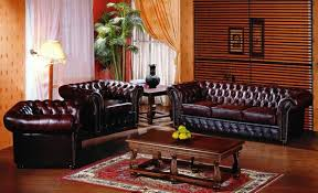 chesterfield leather couch