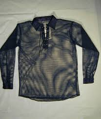 red fishnet shirt