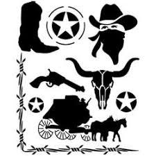 cowboy stencils
