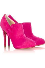 pink suede shoe