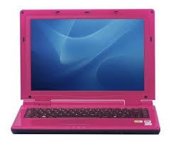 pink small laptop