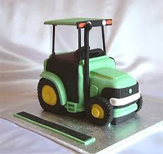 john deere tractor birthday cake