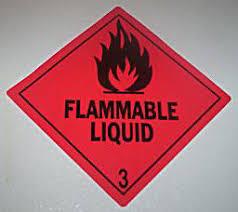 flammable sticker