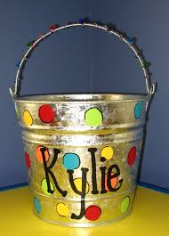 decorated buckets
