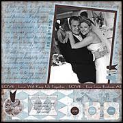 wedding scrapbooking layouts