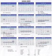 calendar 2008 09
