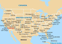 detailed map of america