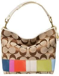 coach striped purse