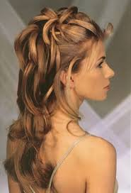 prom hair half up do