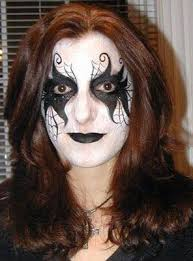 goth face paint