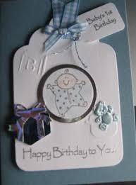 handmade 1st birthday cards