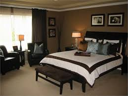 brown blue bed