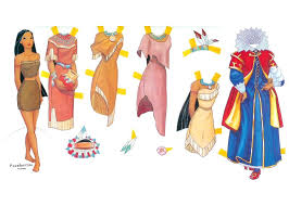 disney princess paper doll