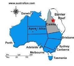 australia map great barrier reef