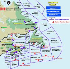 map of east coast of canada