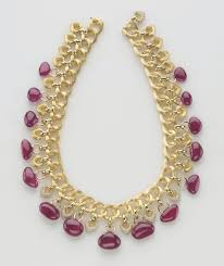 ruby necklace designs