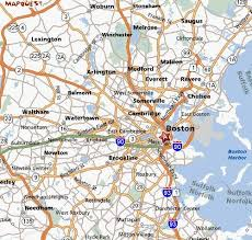 map of boston and surrounding areas