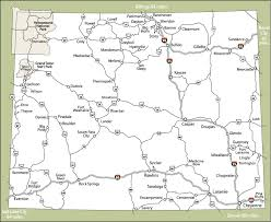 a map of wyoming